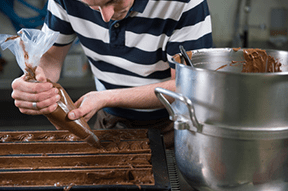 A chocolate-making workshop
