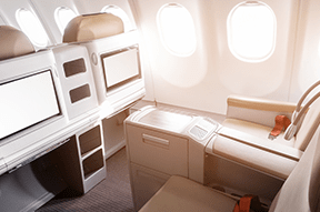 Airlines that auction their business class seats
