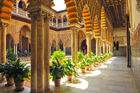 Alcázar in Seville, Spain