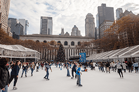 Bank of America Winter Village at Bryant Park, New York, USA: 27 October – 2 January