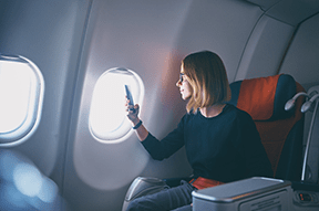 Tips for getting the best seats on an aeroplane